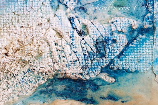 blue ice watercolor abstract, prussian blue pb27 watercolor, abstract watercolour in blue textures, debi riley art teacher, debiriley.com