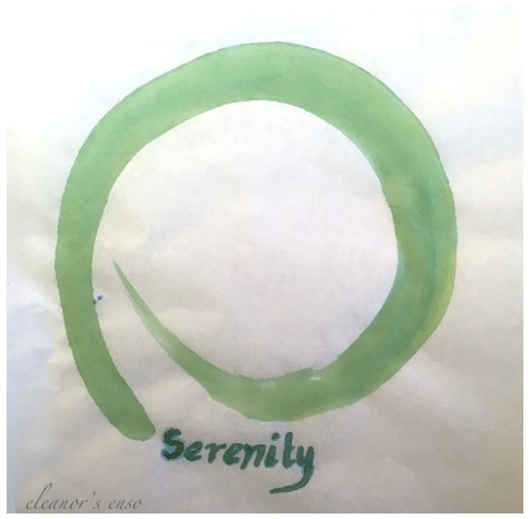 serenity enso, japanese enso on rice paper, serenity enso, zen art, debiriley.com