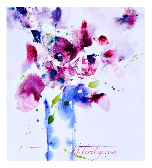 creating attitude and mood in art, conveying sass in a painting, watercolors with attitude, debi riley watercolour lessons, palette knife watercolor paintings, debiriley.com