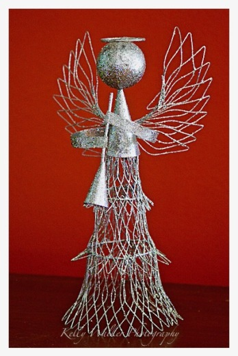 angel in the wings, silver holiday christmas angel, debiriley.com