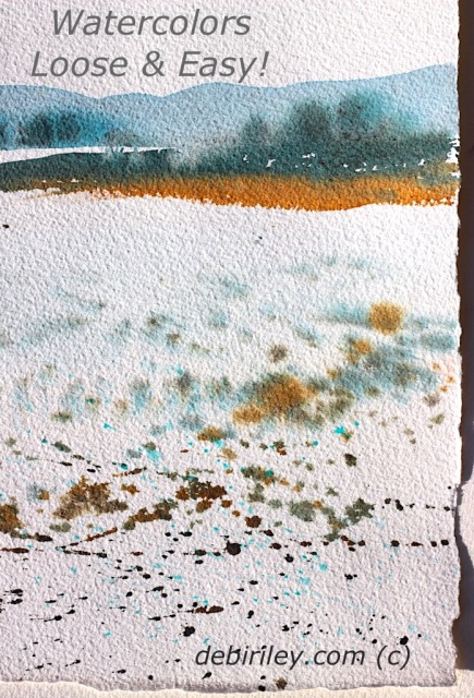 watercolor landscapes loose and easy, art lessons Atwell gallery, debiriley.com