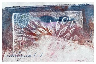 monoprint abstract art,
