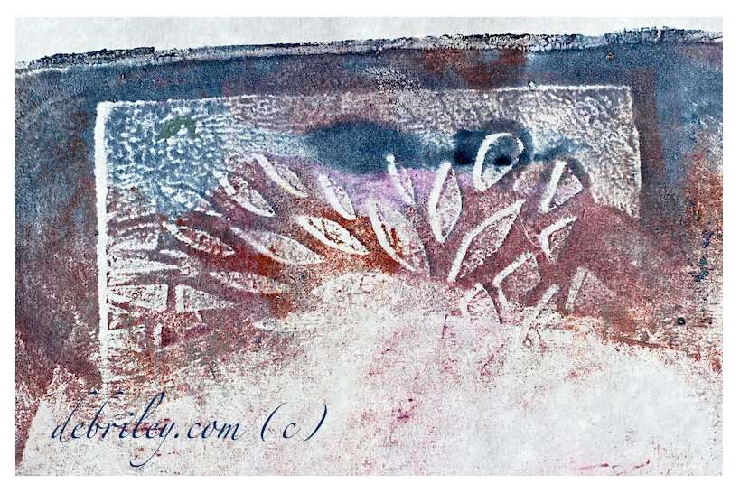 monoprint abstract art,