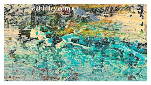 crackle with cobalt teal blue acrylic, fun and easy abstract texture effects, debiriley.com