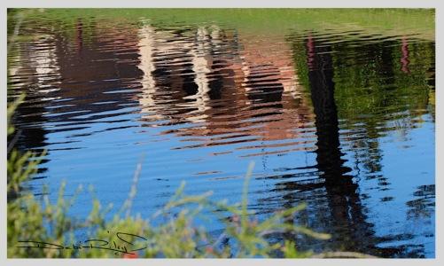 calm gentle water reflections, debiriley.com