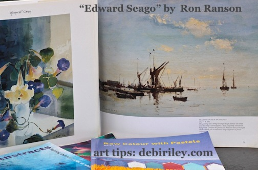 Edward Seago by Ron Ranson book, great art books, masters of oil painting, painting ships and seas the impressionist technique, debiriley.com