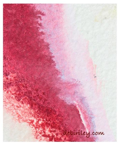 watercolor techniques, floral pink color mixes, debiriley.com