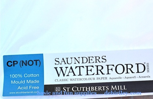 Saunders watercolor paper cold press, watercolour paper great for students, fun art supplies, making the most of art sales, debiriley.com