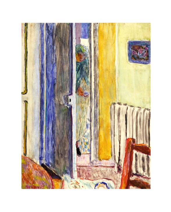 Bonnard painting with door, the door in art symbolism, bright quirky colors paintings, debiriley.com