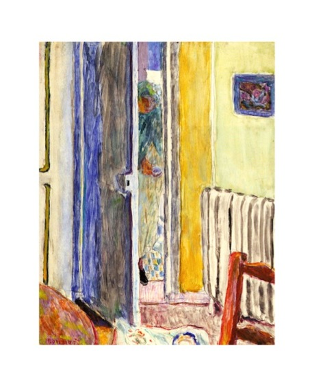 Bonnard painting with door, the door in art symbolism, bright quirky colors paintings, debiriley.com