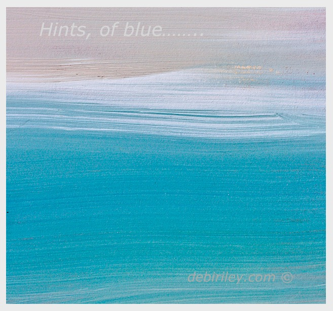 Hints, of blue….. its 'key'