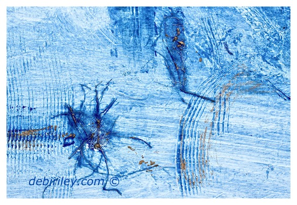 high key blue abstract painting, using texture tone and color in art, debiriley.com