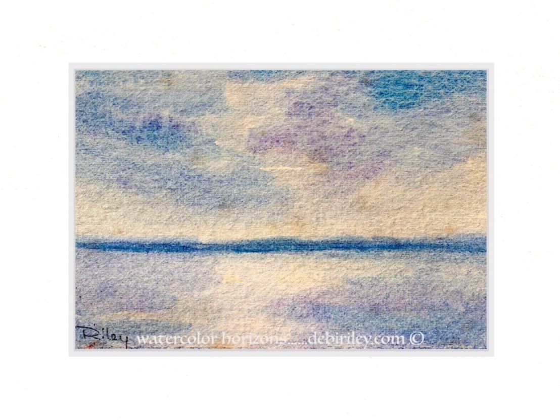 Watercolor Skies in Ultramarine, CobaltViolet