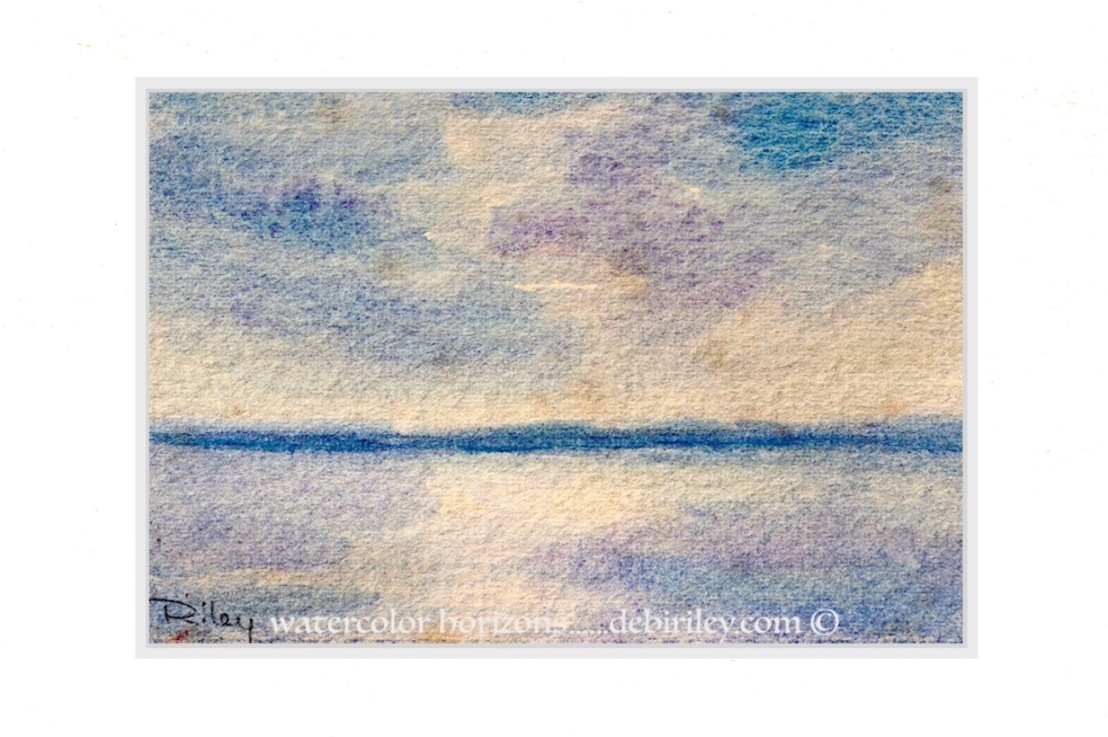 Watercolor Skies in Ultramarine, Cobalt Violet