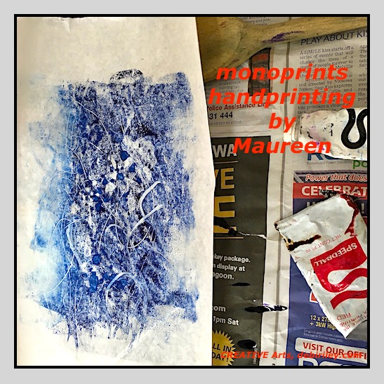 Addictive, Sheer Fun … Monoprinting
