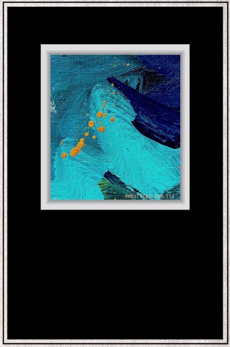 abstract blues, cobalt teal blue painting, debiriley.com