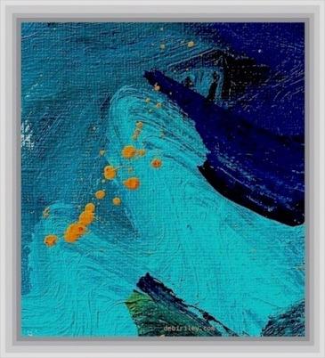 cobalt teal blue abstract, la rochefoucauld quote, debiriley.com