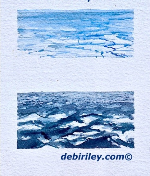 beginners impressionist watercolors, painting water in watercolours for novice painters, debiriley.com