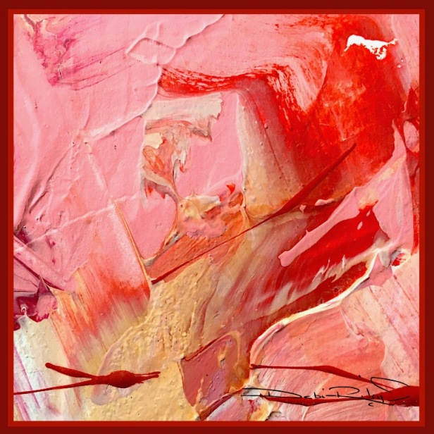 abstract inspirations, floral wall art contemporary palette knife, debiriley.com