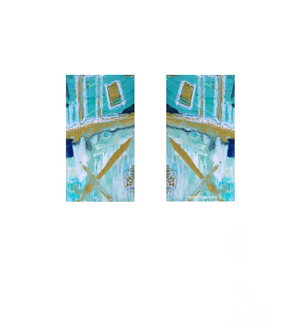 cobalt teal abstract, debiriley.com