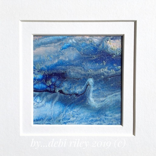 abstract watercolor, creative beginner art, blue paintings, ocean waves, debiriley.com