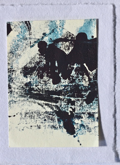 monotype in blue