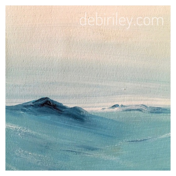 acrylic landscape, simplicity in paint, debiriley.com