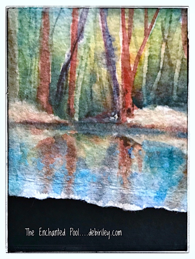 watercolor pool, debiriley.com
